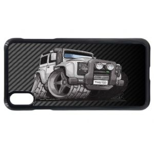 Koolart Carbon Fiber Fibre & Defender Twisted TD5 4x4 car Image Mobile Phone Case Fits iPhone